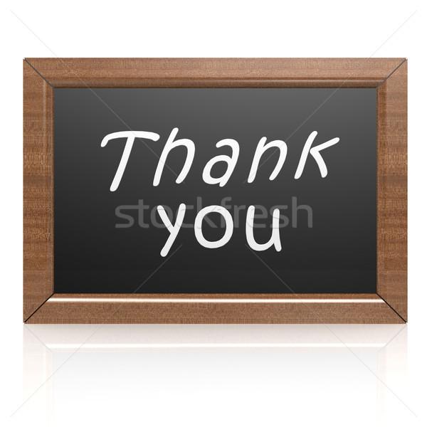 Obrigado lousa escolas verde escrita carta Foto stock © tang90246