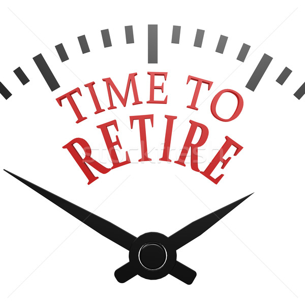 Time to retire clock Stock photo © tang90246