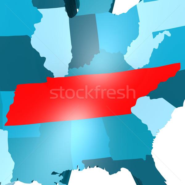 Tennessee carte bleu USA image rendu Photo stock © tang90246
