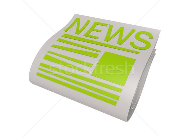 зеленый новых бумаги газета фон связи Сток-фото © tang90246