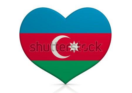 Azerbaiyán corazón fondo viaje país concepto Foto stock © tang90246