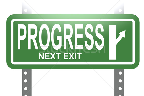 Progress green sign board isolated Stock photo © tang90246