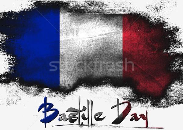 Bastille dzień malowany szczotki solidny streszczenie Zdjęcia stock © tang90246