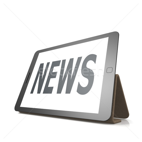 Table with news word Stock photo © tang90246