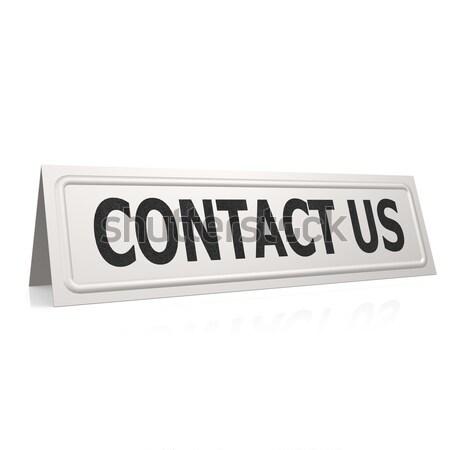 Contact us board Stock photo © tang90246