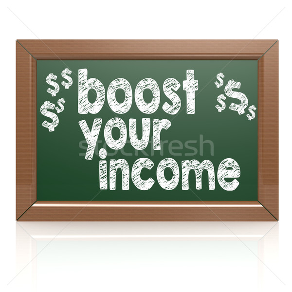 Boost Your Income on a chalkboard Stock photo © tang90246