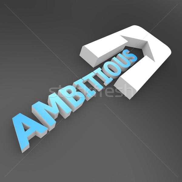 Ambitieus pijl succes beheer idee doel Stockfoto © tang90246