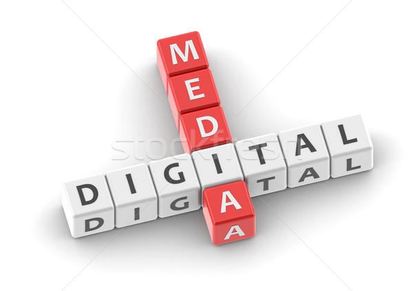 Buzzwords digital media Stock photo © tang90246