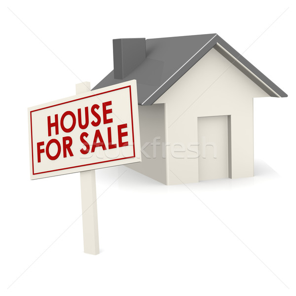 House for sale banner with house Stock photo © tang90246