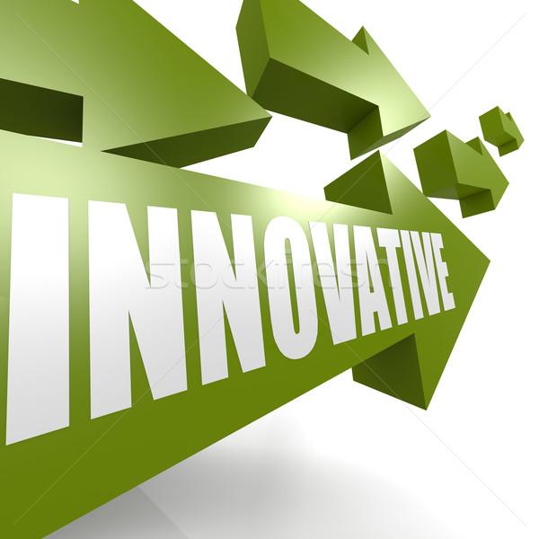 Innovatív nyíl zöld kép renderelt mű Stock fotó © tang90246