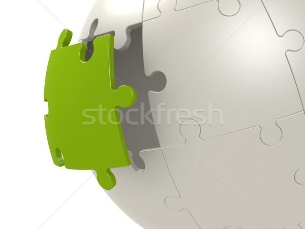 Сток-фото: зеленый · последний · головоломки · мира · фон · группа
