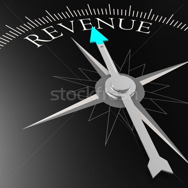 Revenue word on the black compass Stock photo © tang90246