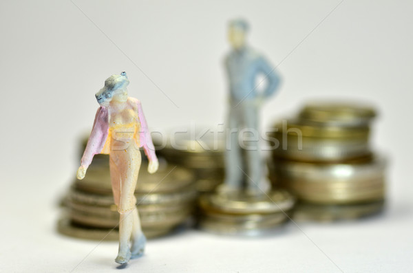 Miniature people with coins  Stock photo © tang90246