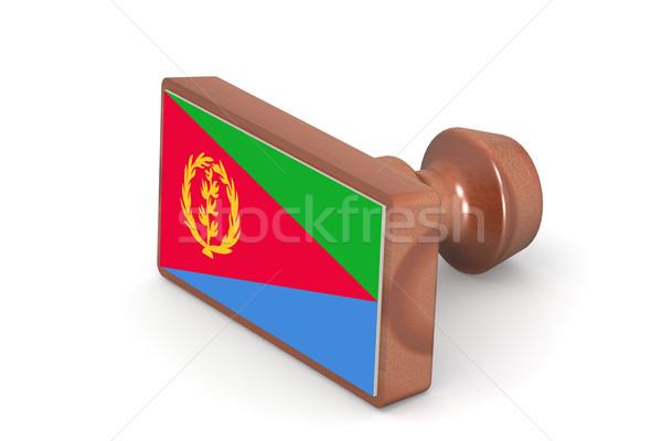 штампа Эритрея флаг изображение оказанный Сток-фото © tang90246