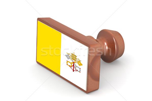 штампа Ватикан флаг изображение оказанный Сток-фото © tang90246