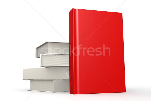 книгах красный изолированный изображение оказанный Сток-фото © tang90246