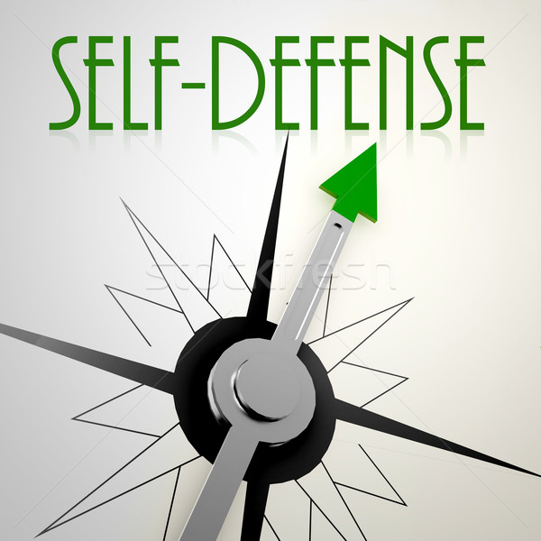 Self defense on green compass Stock photo © tang90246
