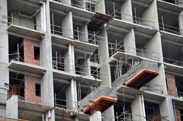 Ogólny widoku budowa budować domu budowy Zdjęcia stock © tang90246