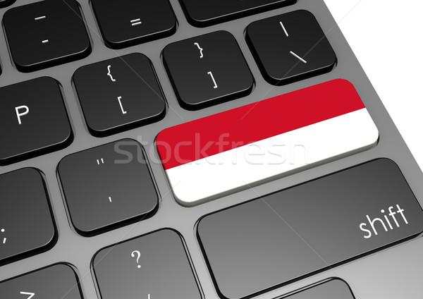 Indonesia teclado imagen prestados utilizado Foto stock © tang90246