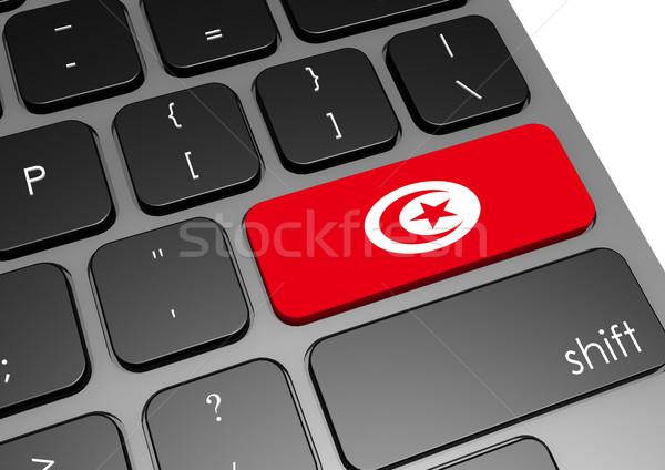 Tunus klavye görüntü render kullanılmış Stok fotoğraf © tang90246