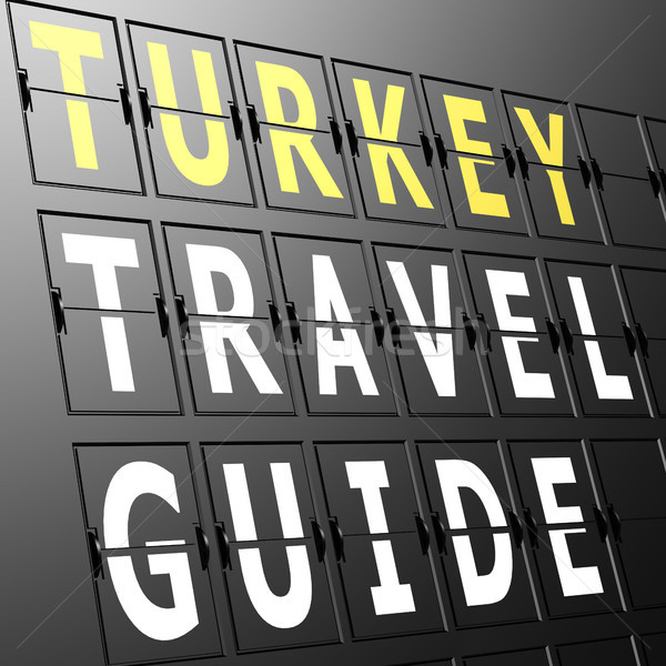 Airport display Turkey travel guide Stock photo © tang90246