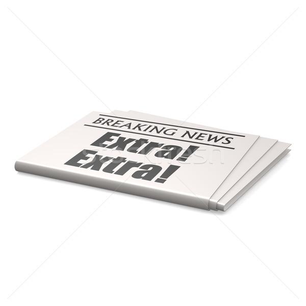 Extra newspaper Stock photo © tang90246