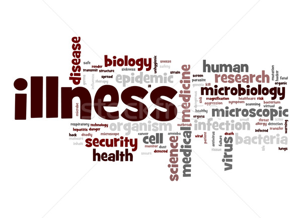 Illness word cloud Stock photo © tang90246
