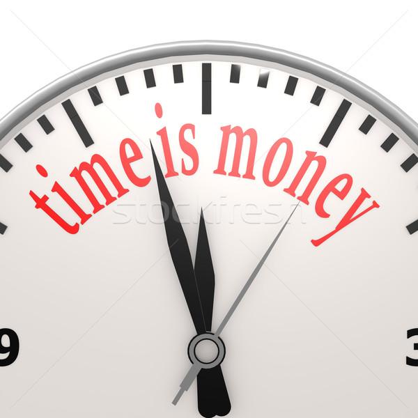 Время-деньги часы Финансы банка рынке наличных Сток-фото © tang90246