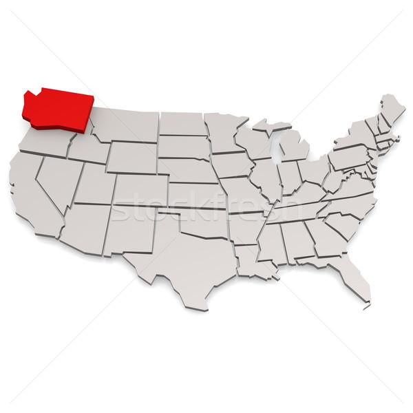 Вашингтон карта изображение оказанный используемый Сток-фото © tang90246