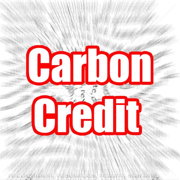 Carbono crédito tecnología humo azul fábrica Foto stock © tang90246