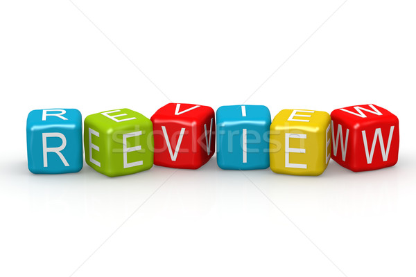 Review colorful buzzword Stock photo © tang90246