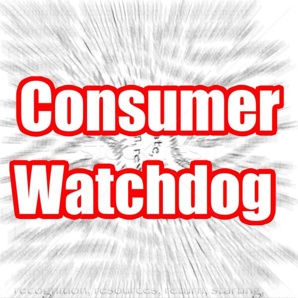 Consumidor cão de guarda imagem prestados usado Foto stock © tang90246
