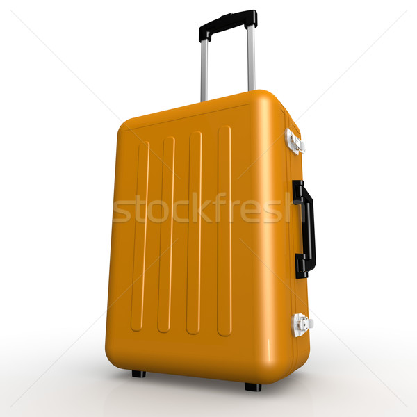 Orange luggage stands on the floor Stock photo © tang90246