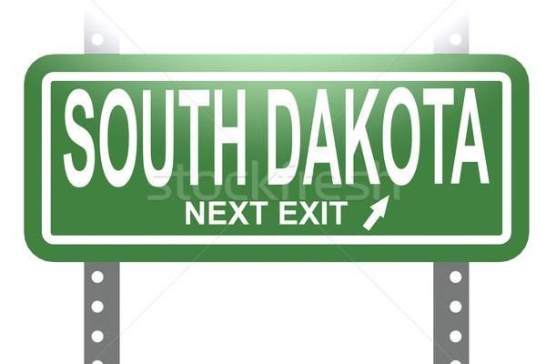 Dél-Dakota zöld felirat tábla izolált kép Stock fotó © tang90246