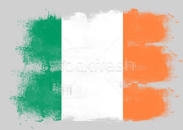 Vlag Ierland geschilderd borstel solide abstract Stockfoto © tang90246