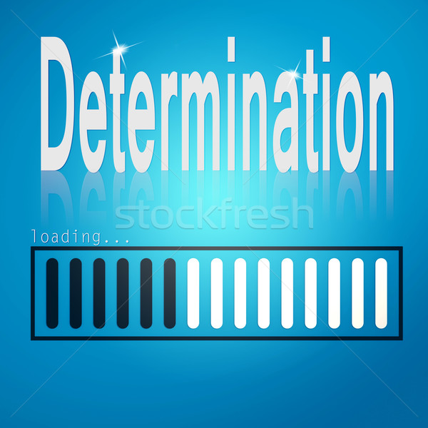 Stock photo: Determination blue loading bar
