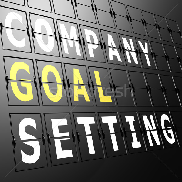 Airport display company goal setting Stock photo © tang90246