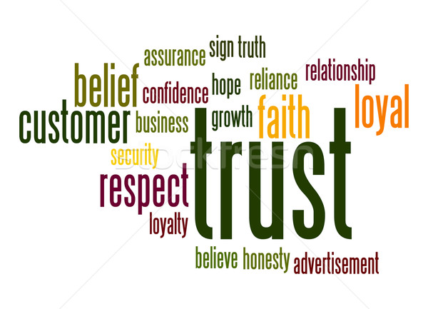 Trust word cloud Stock photo © tang90246