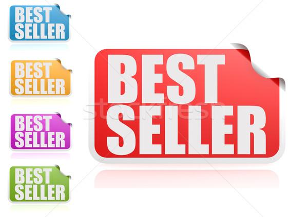 лучший продавец Label набор бумаги дизайна Сток-фото © tang90246