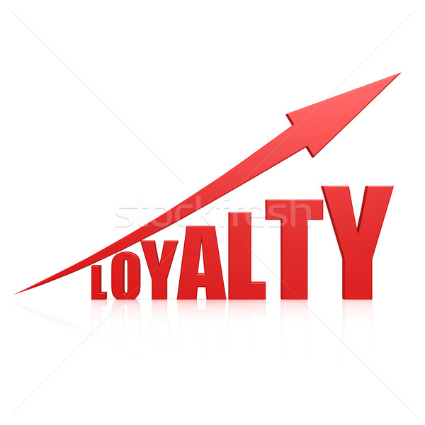 Loyalty red arrow Stock photo © tang90246