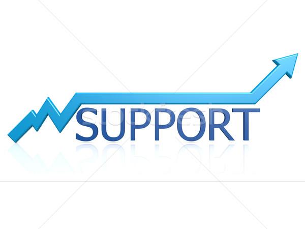 Támogatás grafikon információ levelek ötlet csapatmunka Stock fotó © tang90246
