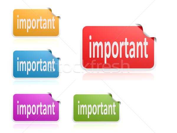 Label набор важный изображение оказанный Сток-фото © tang90246