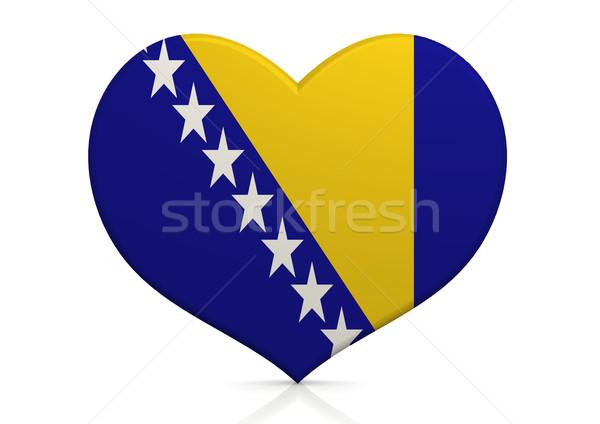 Bosnia Herzegovina fondo viaje bandera paz país Foto stock © tang90246