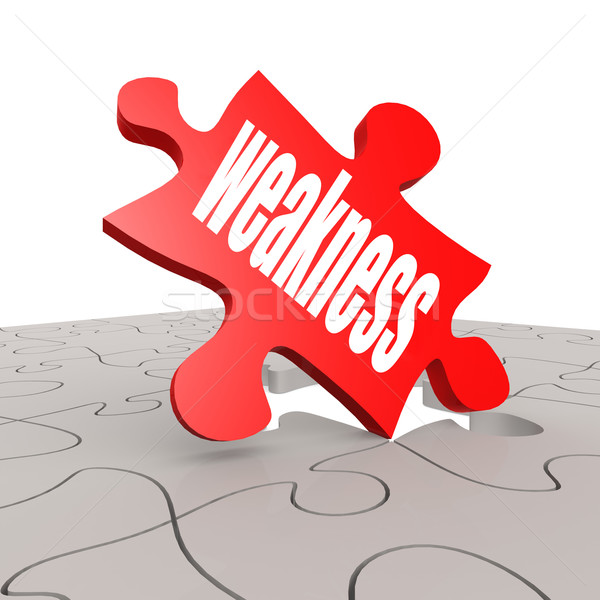 Weakness word with puzzle background Stock photo © tang90246
