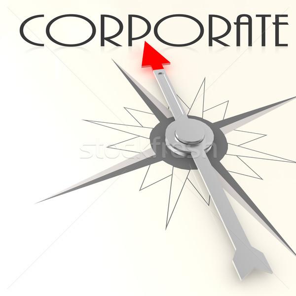компас корпоративного слово изображение оказанный Сток-фото © tang90246