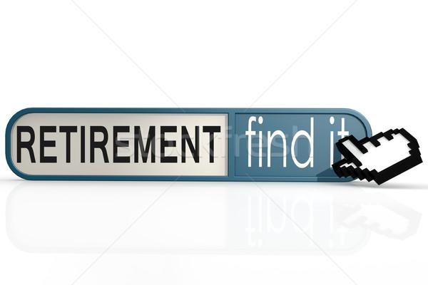 Сток-фото: пенсия · слово · синий · находить · баннер · изображение