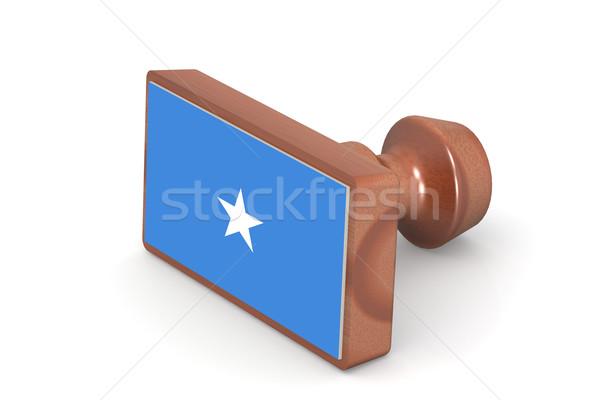 Pieczęć Somali banderą obraz świadczonych Zdjęcia stock © tang90246