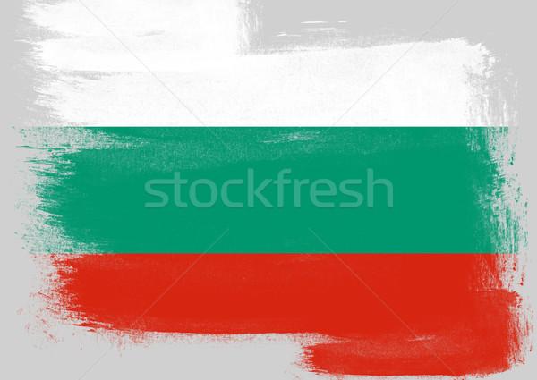 Banderą Bułgaria malowany szczotki solidny streszczenie Zdjęcia stock © tang90246