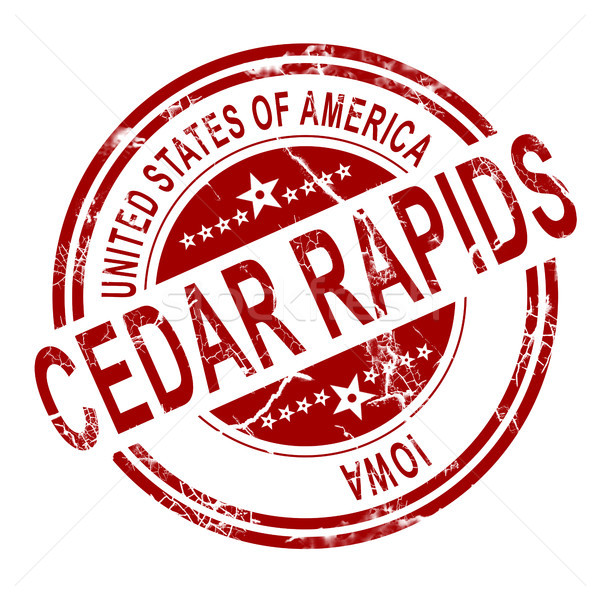 Cedar Rapids stamp with white background Stock photo © tang90246