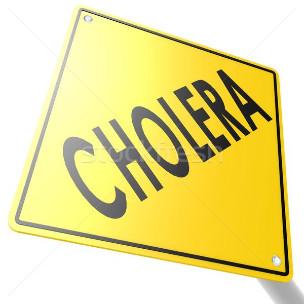 Road sign with cholera Stock photo © tang90246